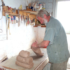 Day One: Wedging clay