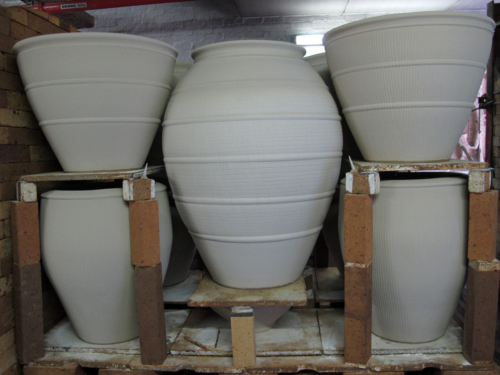 The south-side of Kiln 155 (before firing)