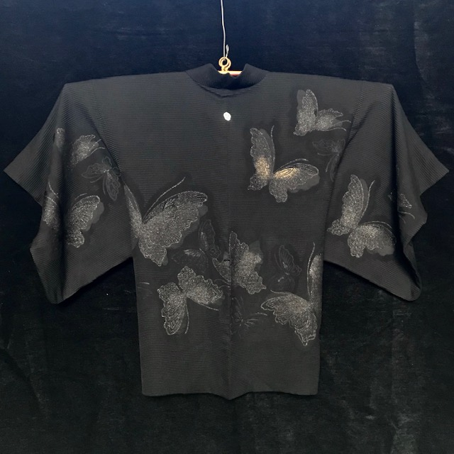 Haori: black + butterflies
