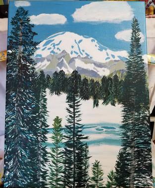 Mt Rainier painting