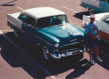 Bob standing by Betsy