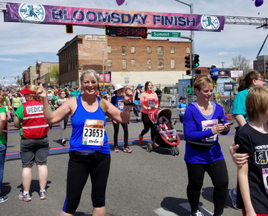 May - Kath Bloomsday finish line