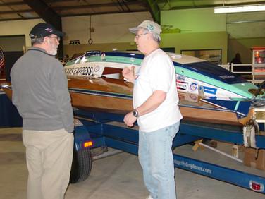 Jan - Bob at boat show