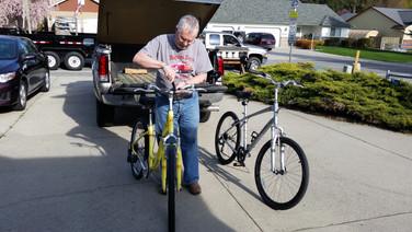 April - new bikes