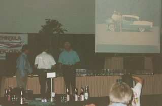 July - Bob getting award