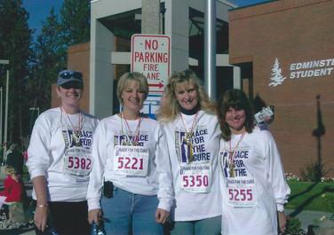 Kim, Kath, Laurie, Holly