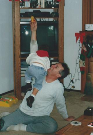 1992-12 Lant 110 Cody climbing up Grandp