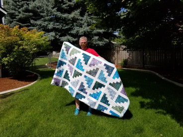 Kim made this quilt for us!
