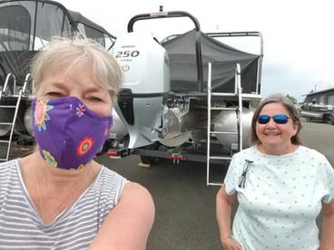 Social distance visit with Lori