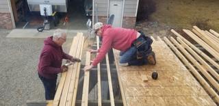 Awning project - Bob & Brian