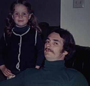 1974 Tracy & her dad Bob