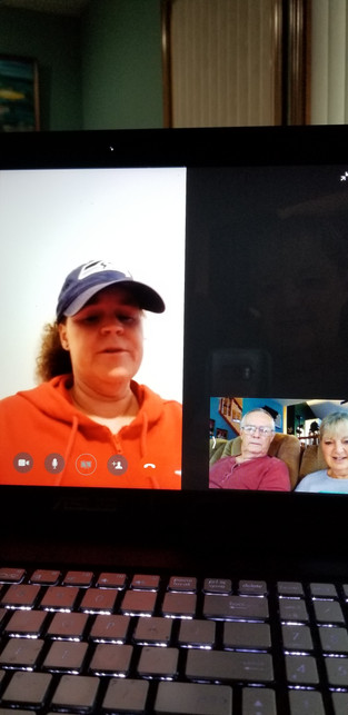 video visit with Tracy