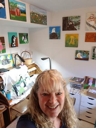 Kath's paint room