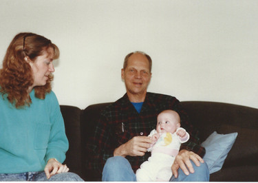 March - Kath, Dad, Fiona