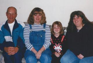 Feb - Dad, Kath, Fiona, Linda