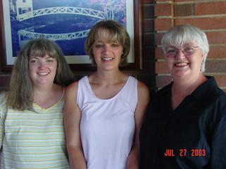 July - Linda, Kath, Shirley