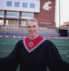 2019-05-04 Marcus walking at college gra