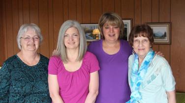 Shirley, Linda, Kath, Cheryl
