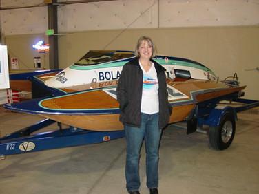 Jan - Kath at boat show