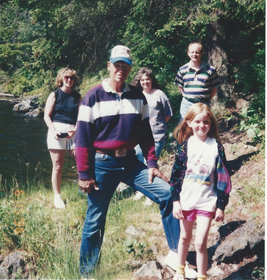June - Kath, Dad, Redmonds