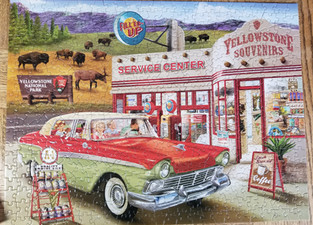 Old car jigsaw puzzle