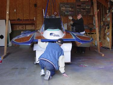 Mar -boat off trailer