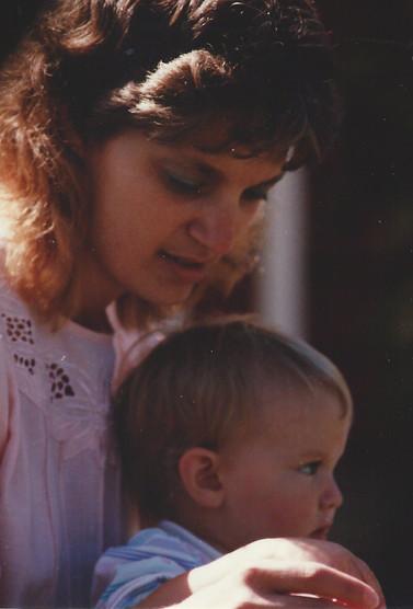 Aug - Kath & cousin Kirsten