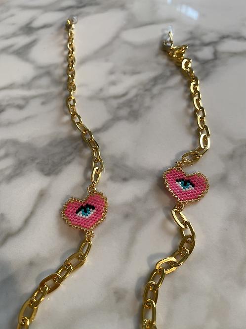 Pink eye chaine