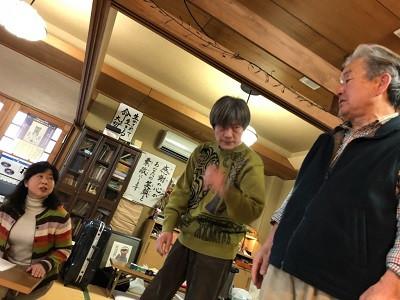 昨日、友人が東京から稽古を観に…