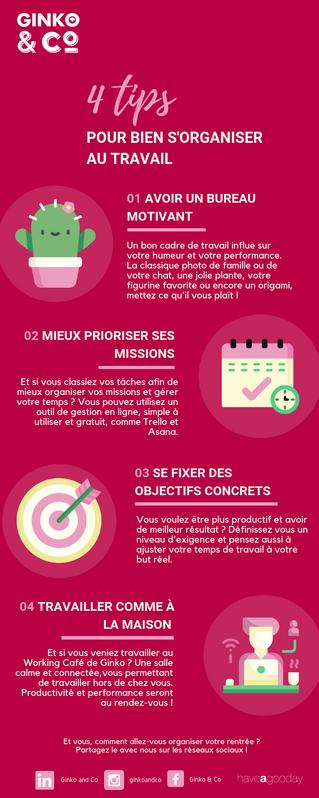 4 Tips pour bien s'organiser au travail