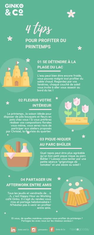 4 Tips pour profiter du printemps
