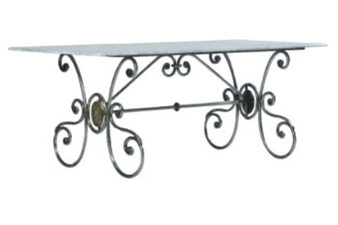 Medallion Table 8/10 Base(Marble/Glass/Cement top)