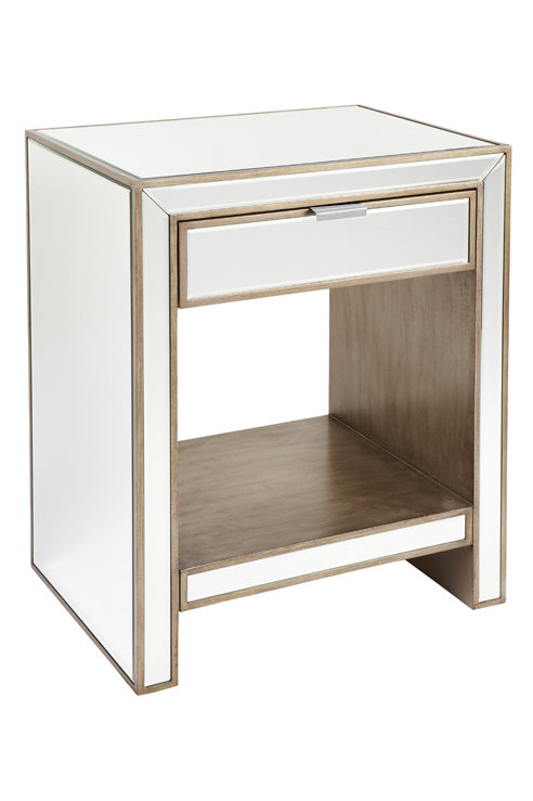 Michelle Bedside with Gold Drawers