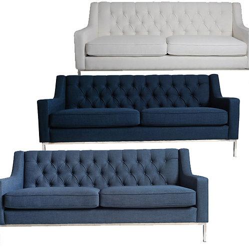 Monterery Sofa – Navy/Ivory/Denim
