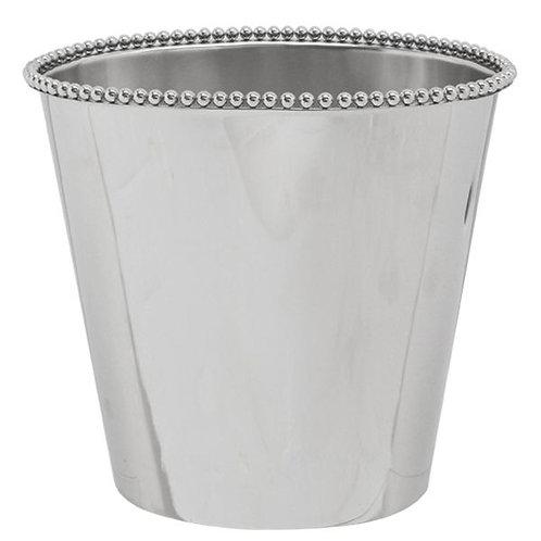 Beaded Silver Bucket