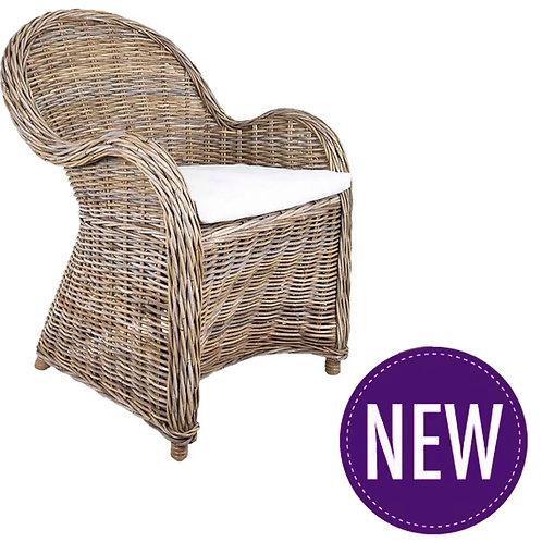 Bahama Wicker Chair with Cushion