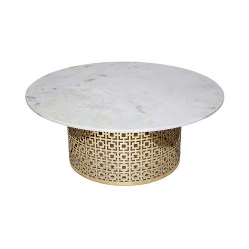 Brass Base Marble Coffee Table