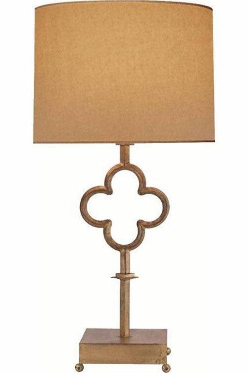 Gilded Quatrefoil Lamp – Large