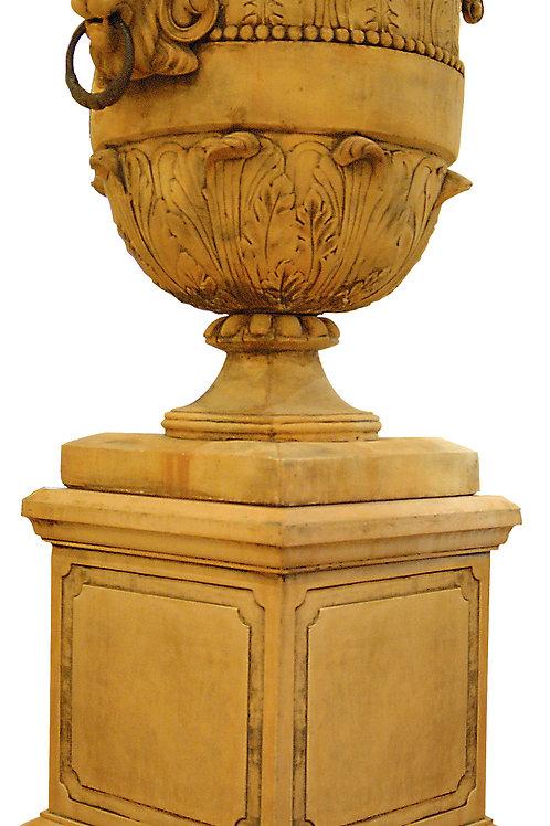 Large Lion Urn & Pedestal - (colour options avail)
