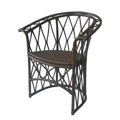 Rattan Lounge Chair - Walnut