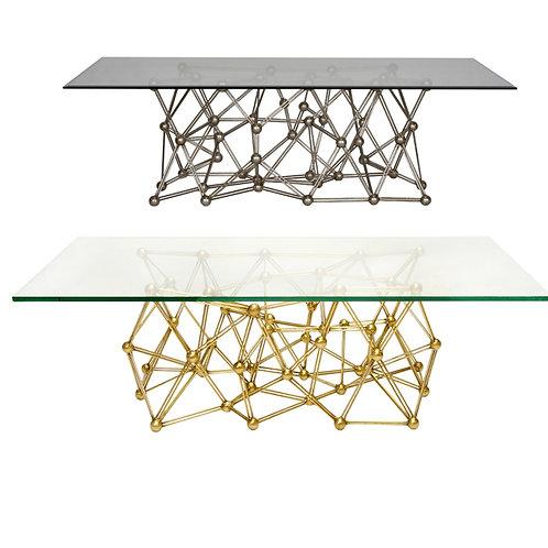 Atom Coffee Table – Nickel or Gold Leaf