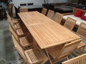 3m Teak Extension Table