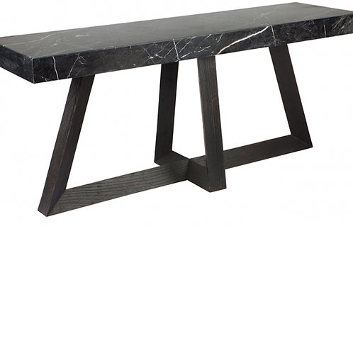 Kelley Black Marble Console
