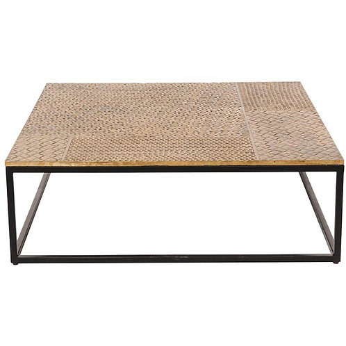Hammered Brass Top Coffee Table