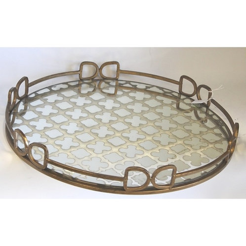 Antique Gilt Patterned Tray