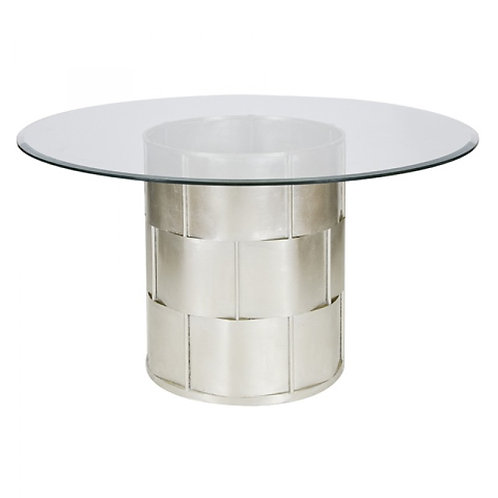 Basketweave Table - Gold or Silver