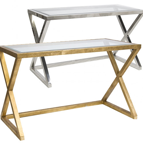 Scanlon Console – Gold or Stainless Steel