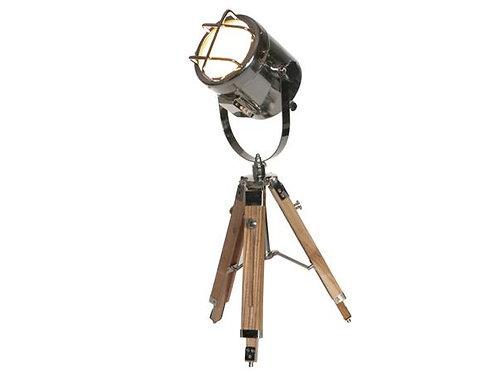 Tripod Focus Light (Natural Wood/Nickel)
