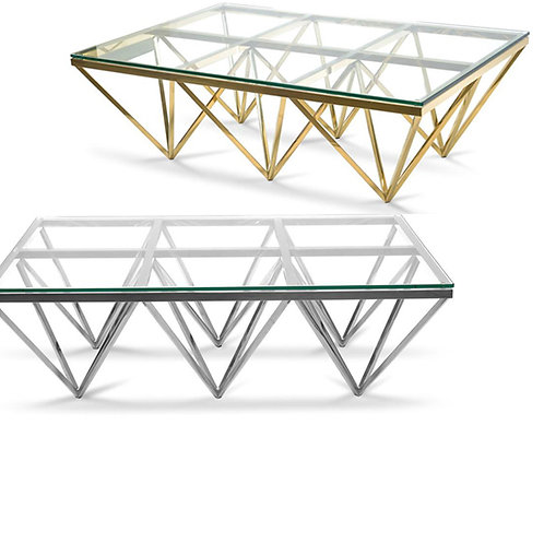 Louvre Coffee Table Large – Silver or Gold