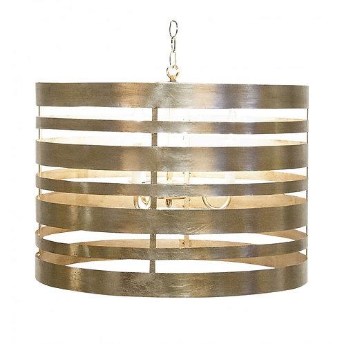 Banded Gold or Silver Leaf Pendant